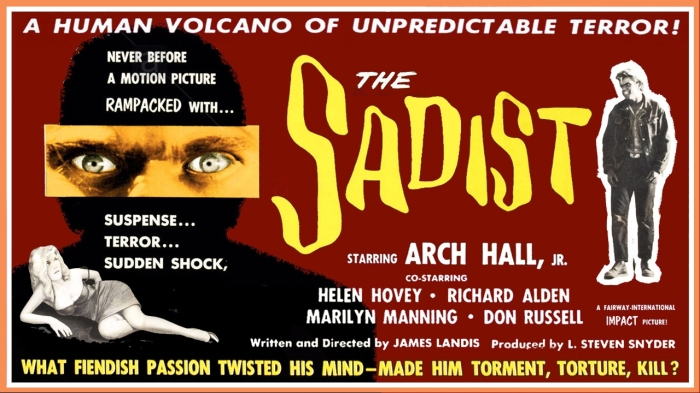 Day 27- 31 Days of Halloween- The Sadist (1963)