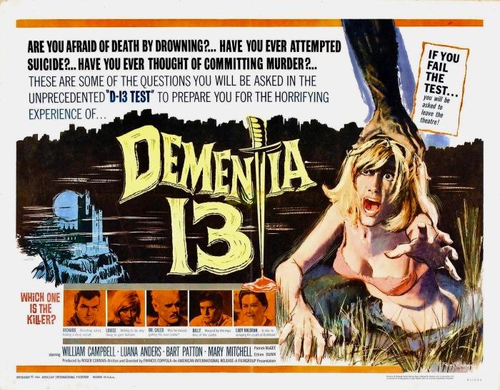 31 Days of Halloween- Day 15- Dementia 13(1963)