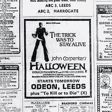 Leeds Halloween Movie Advert 1978