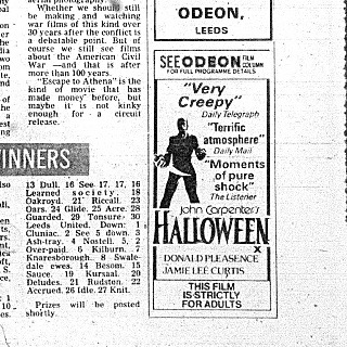 Leeds Halloween Movie Advert 2 1978
