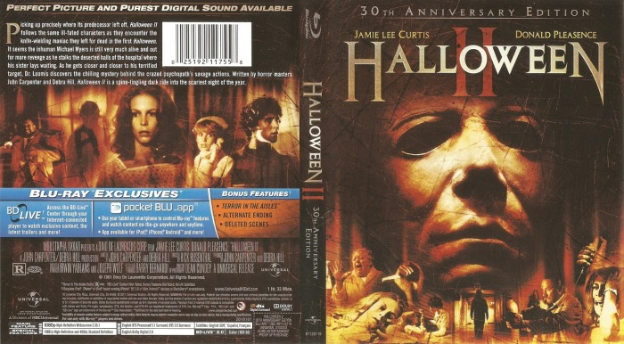 Halloween II 1981 USA Blu-ray cover-cinemapassion.com