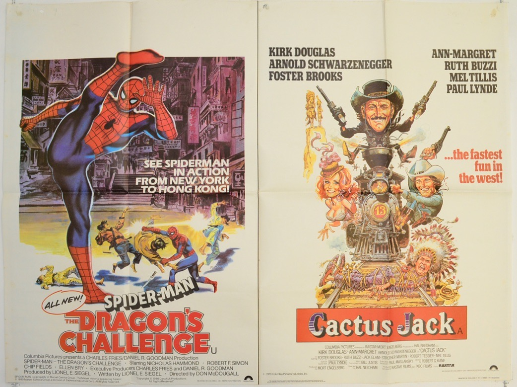 spider man dragons challenge cactus jack - cinema quad movie pos